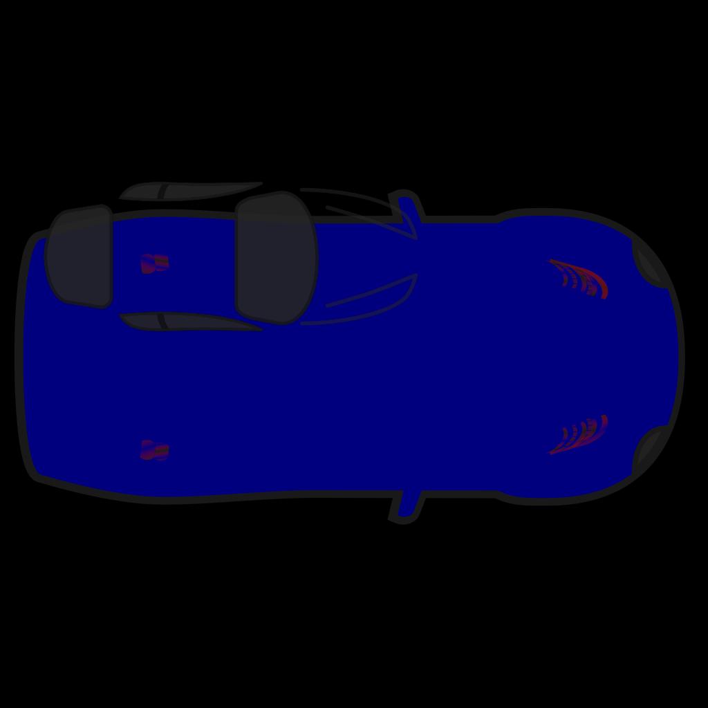 Blue Car - Top View SVG Clip arts