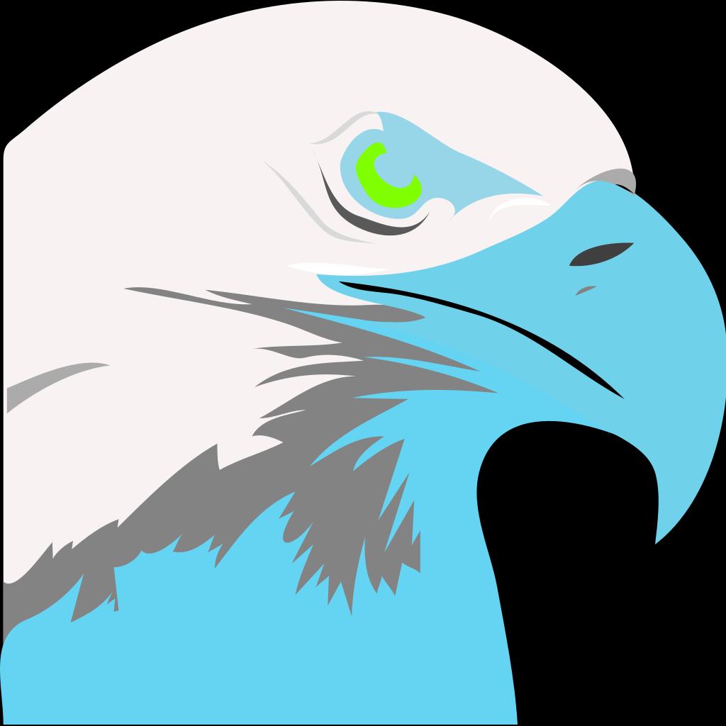 Light Blue Eagle2 SVG Clip arts