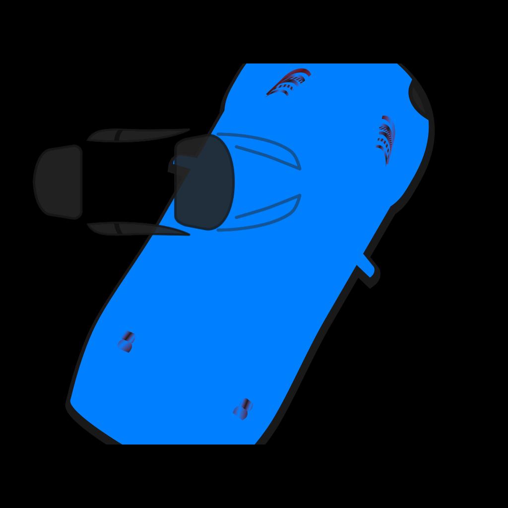 Blue Car - Top View - 60 SVG Clip arts
