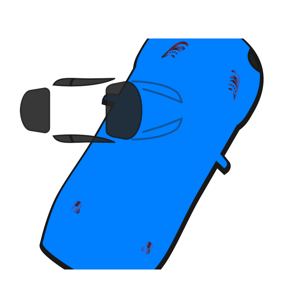 Blue Car - Top View - 60 SVG Clip arts