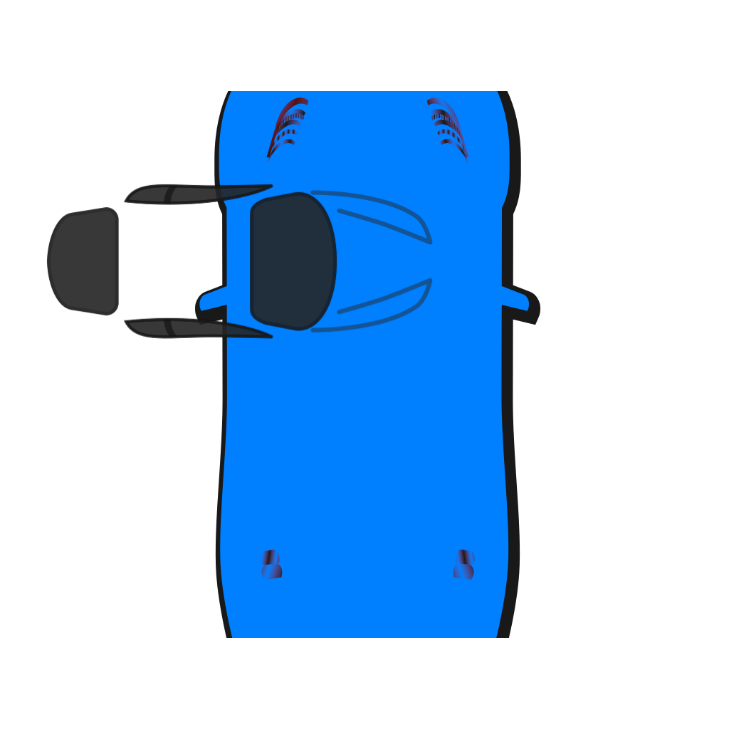 Blue Car - Top View - 90 SVG Clip arts