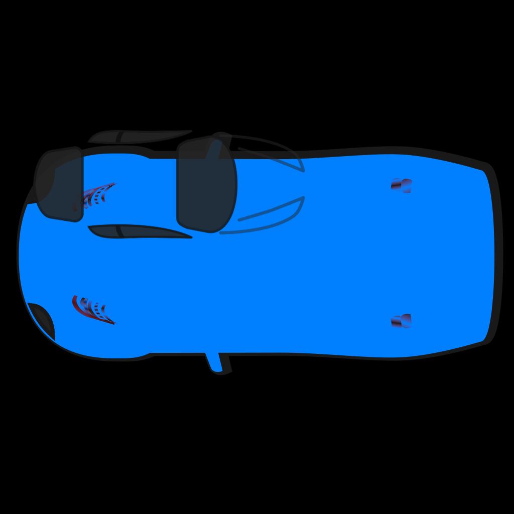 Blue Car - Top View - 180 SVG Clip arts