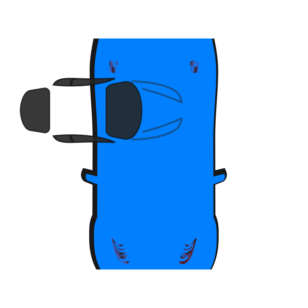 Blue Car Top View 270 Png Svg Clip Art For Web Download Clip