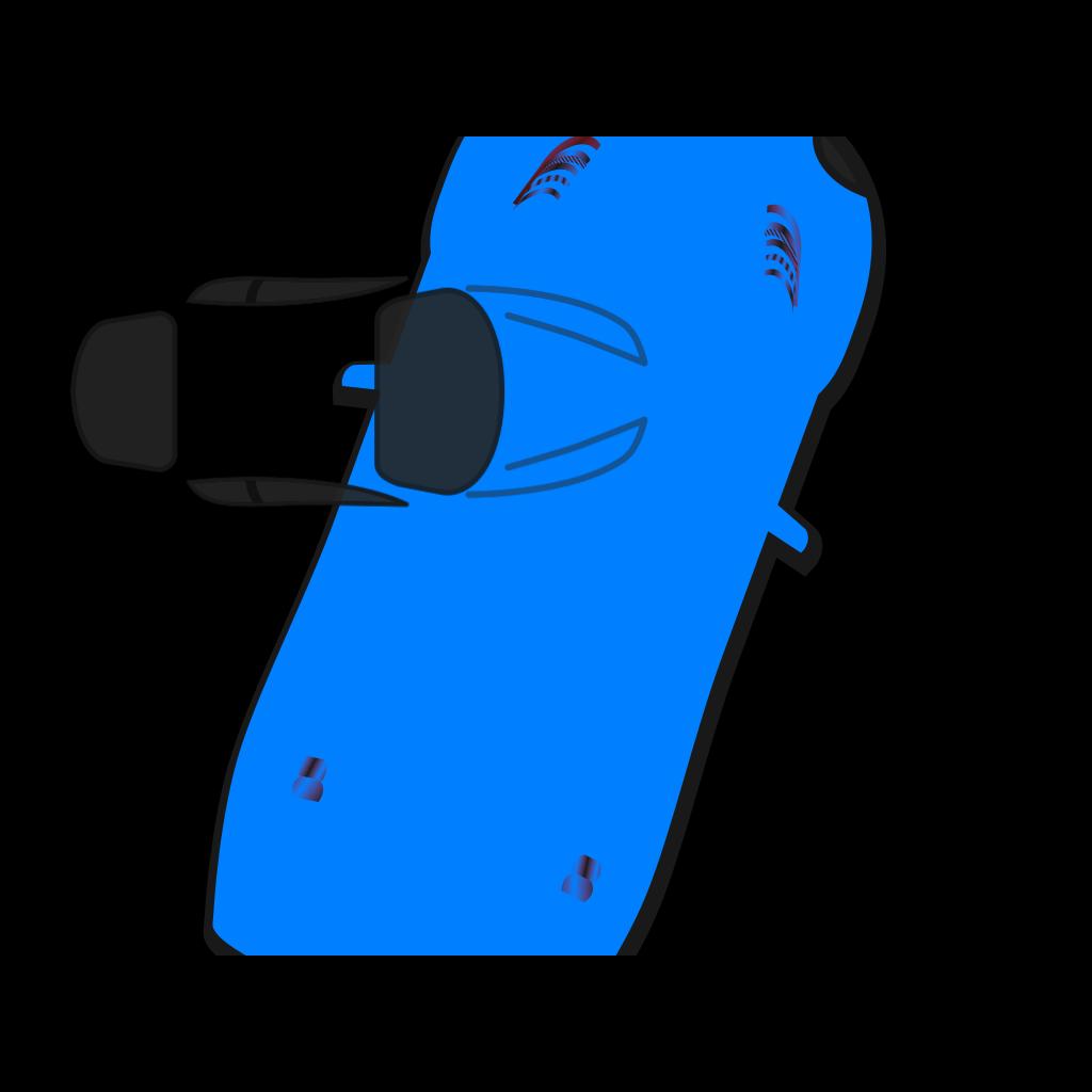 Blue Car - Top View - 70 SVG Clip arts