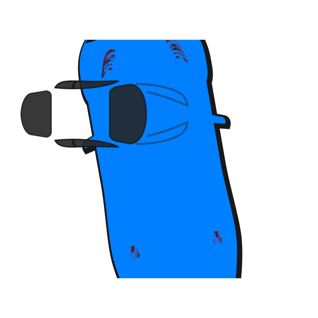 Blue Car - Top View - 100 SVG Clip arts