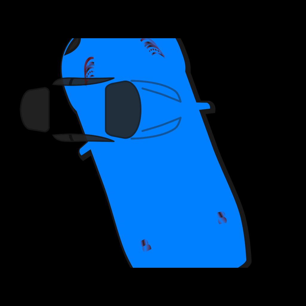 Blue Car - Top View - 110 SVG Clip arts