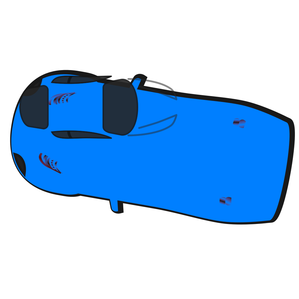 Blue Car Top View 170 Png Svg Clip Art For Web Download Clip