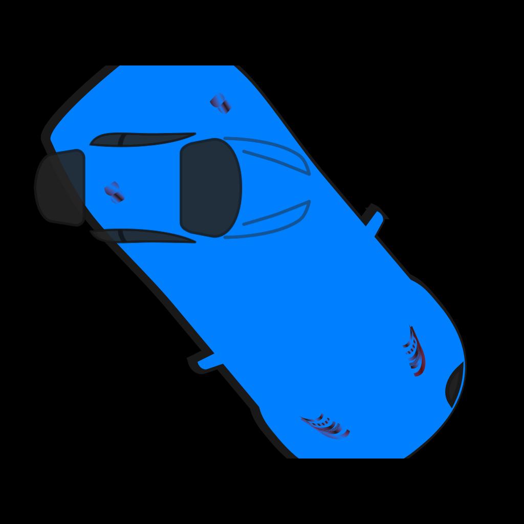 Blue Car - Top View - 310 SVG Clip arts