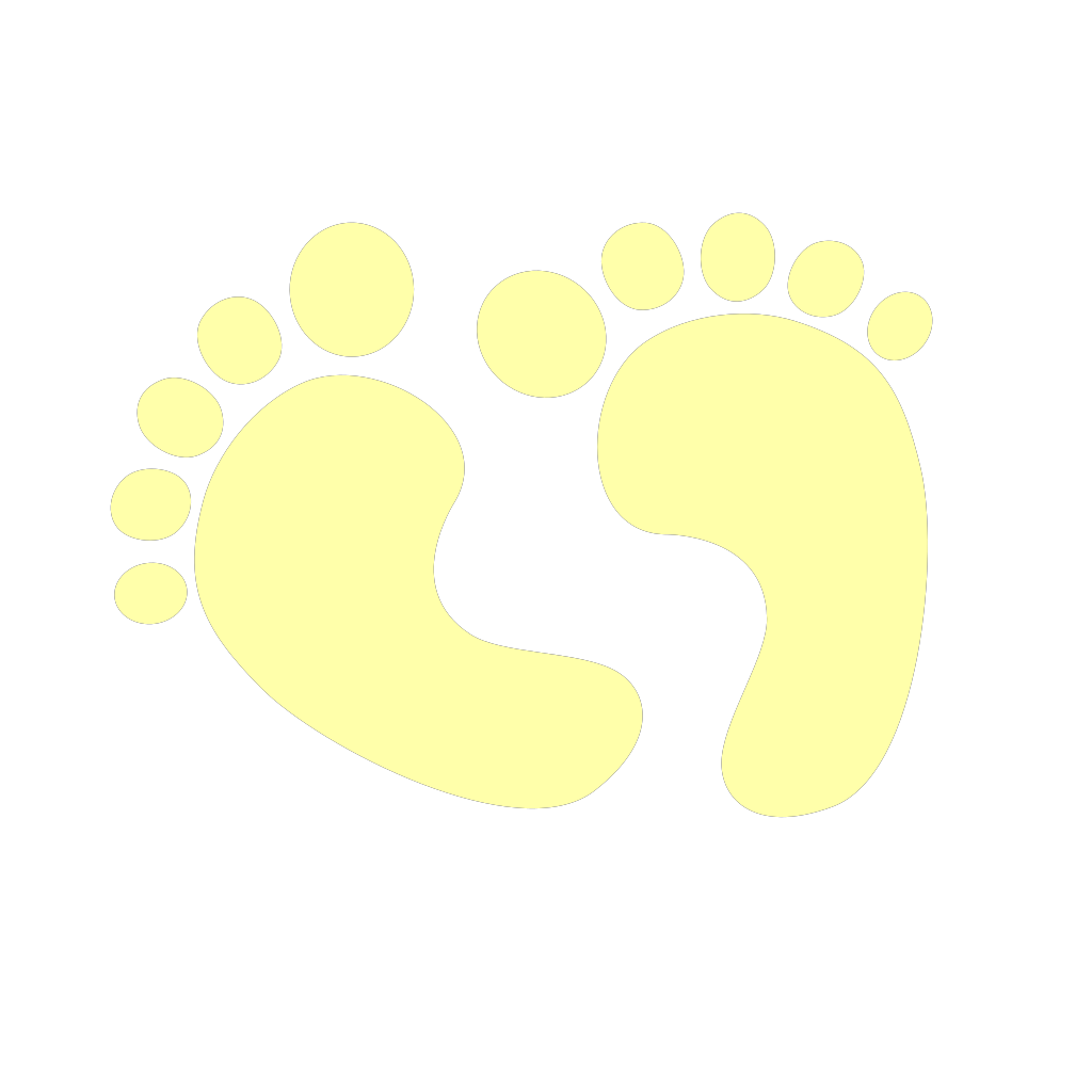 Blue Baby Feet SVG Clip arts