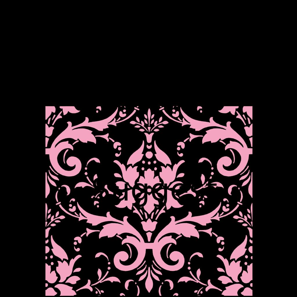 Pink Damask SVG Clip arts