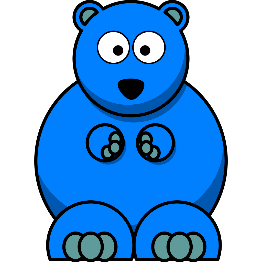 Blue Bear SVG Clip arts