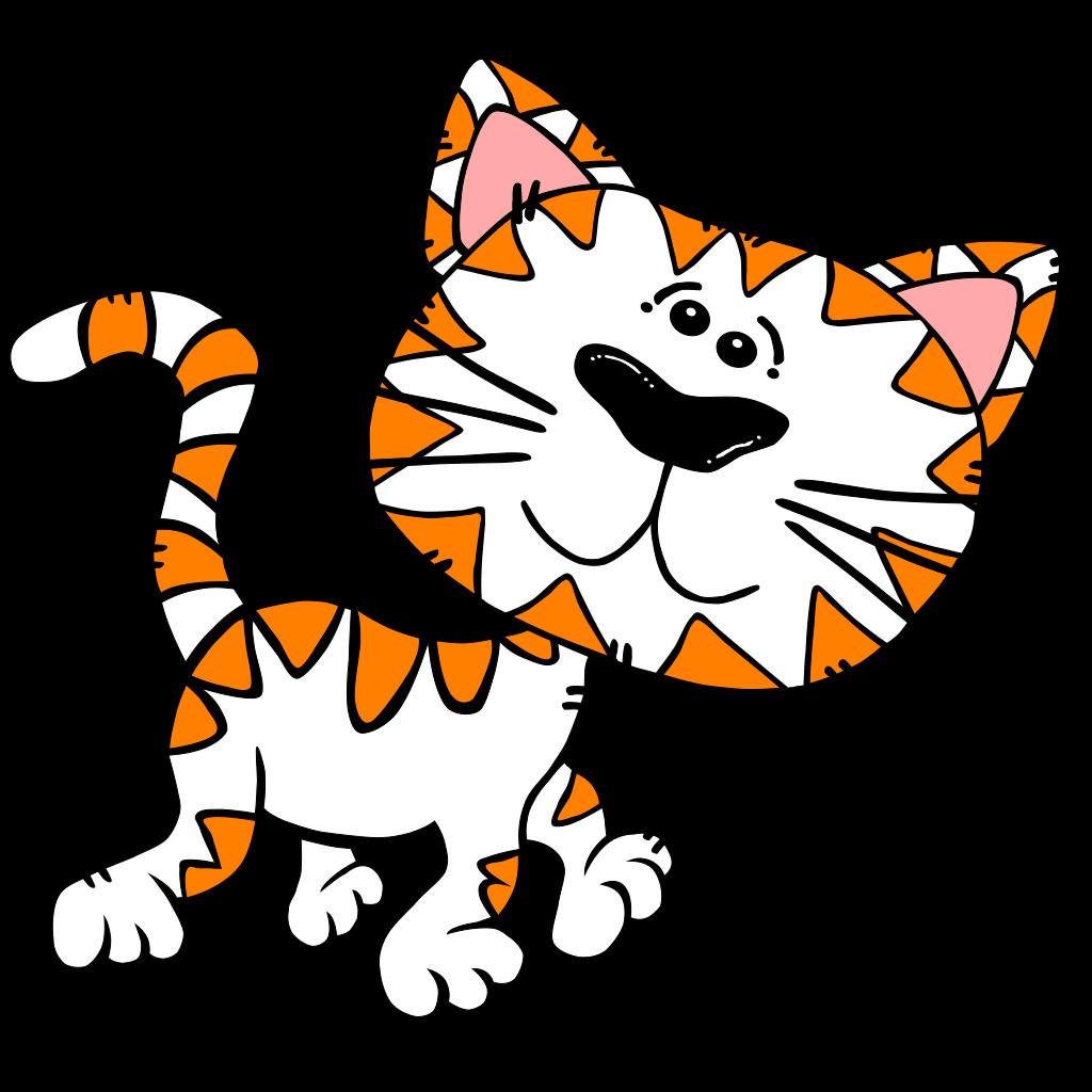 Kitten Black SVG Clip arts