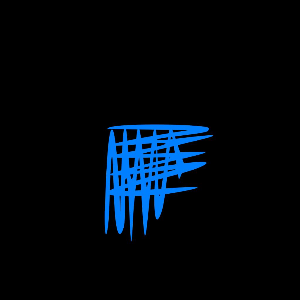 Blue Cross Hatch Shading Top Right Corner SVG Clip arts
