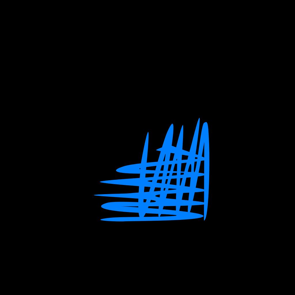 Blue Cross Hatch Shading Top Left Corner SVG Clip arts