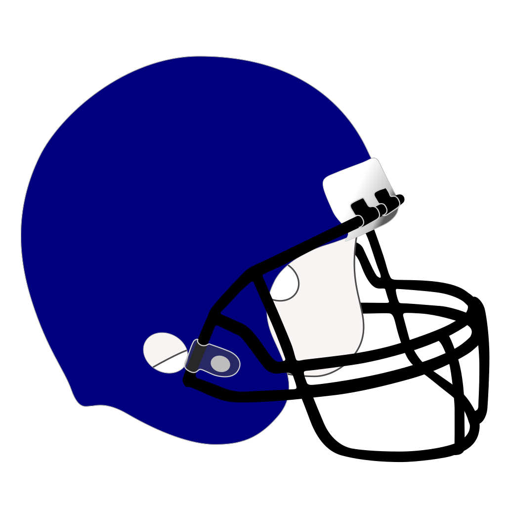 Blue Football Helmet SVG Clip arts