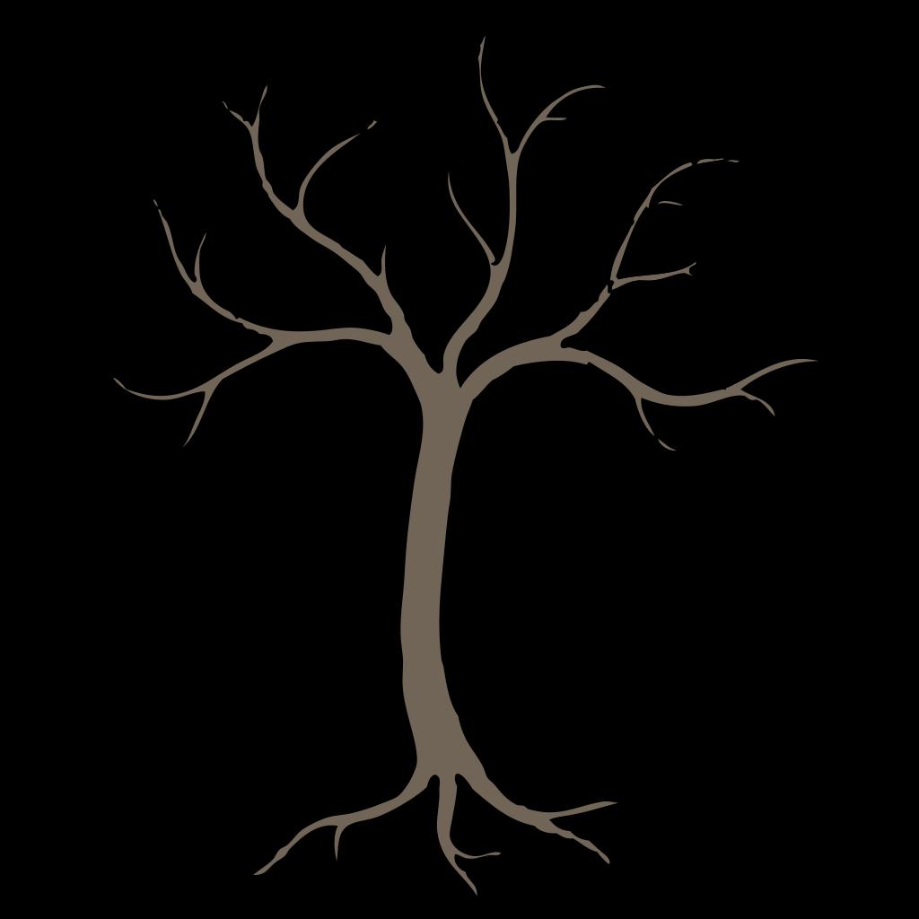 Blue Dead Tree SVG Clip arts