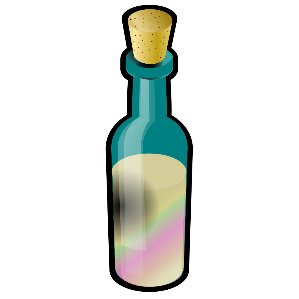Bottle Of Colored Sand SVG Clip arts