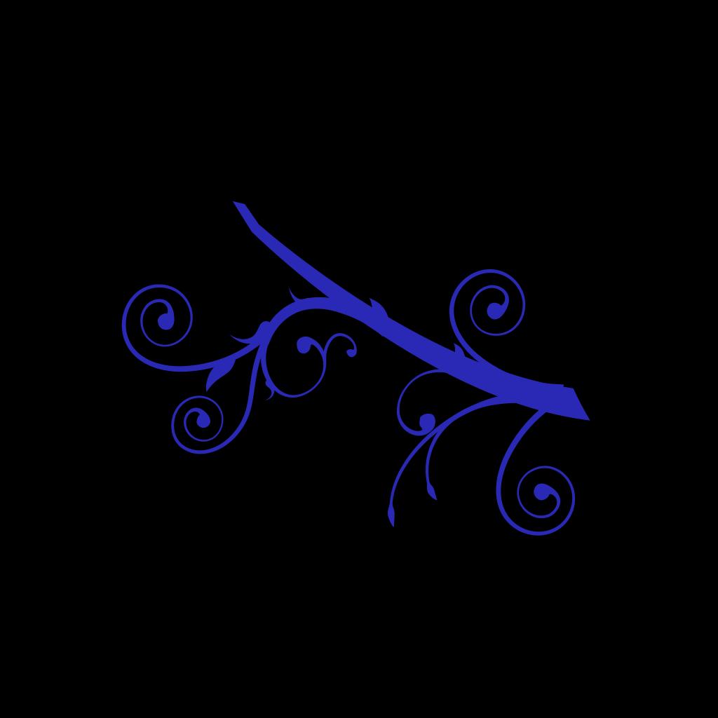 Blue Branch SVG Clip arts