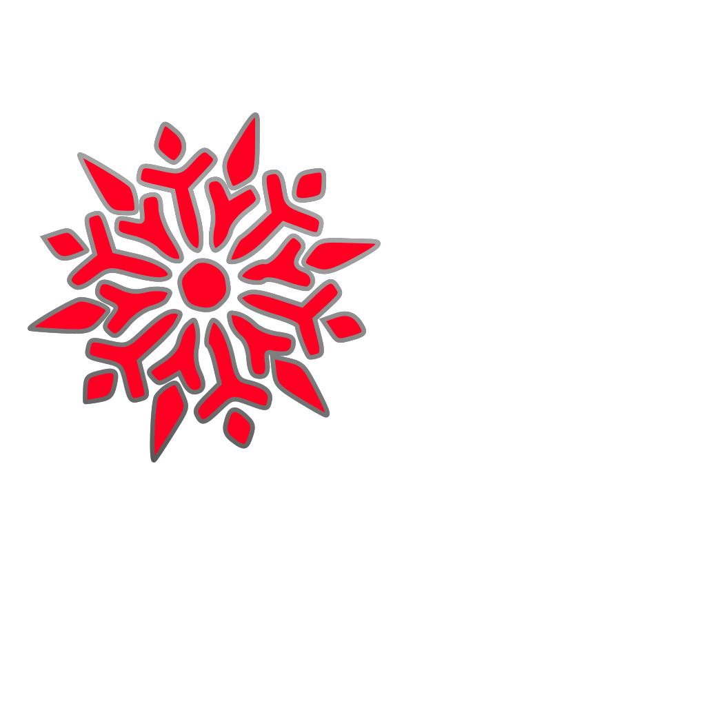 Snowflake Kaleidoscope SVG Clip arts