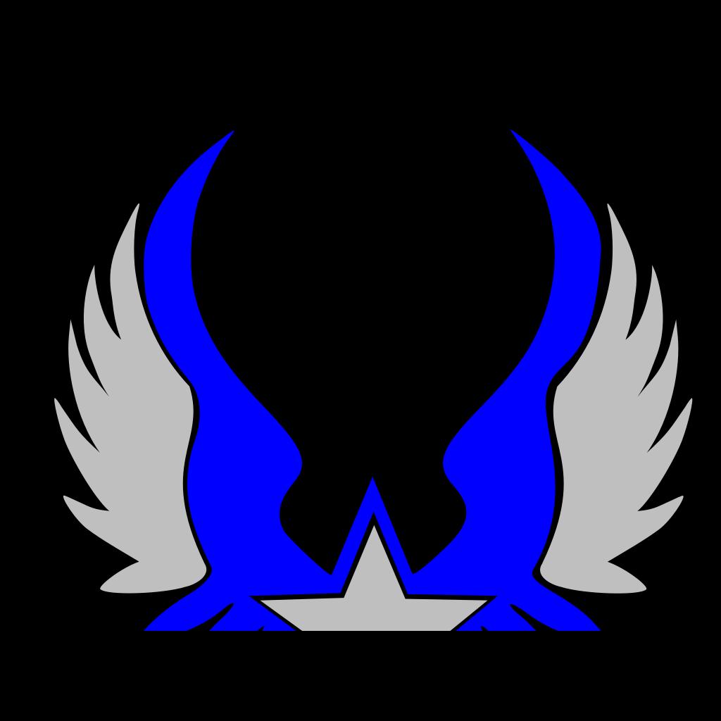 Blue Star Emblem 2 SVG Clip arts