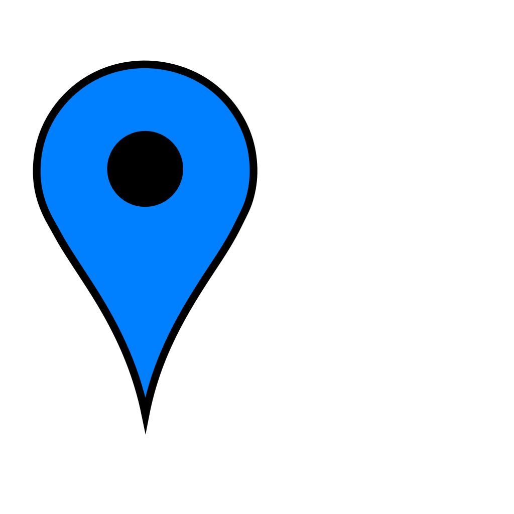 Google Maps Icon - Baby Blue SVG Clip arts download