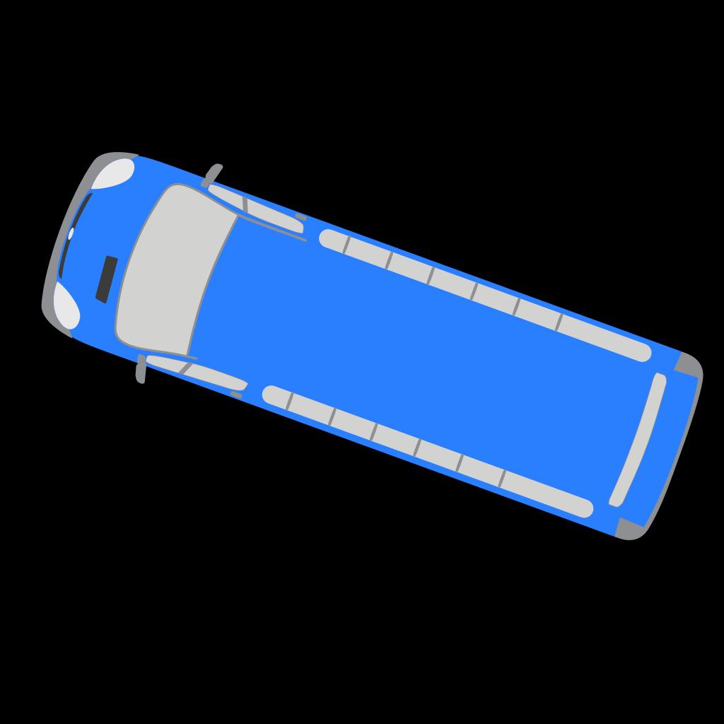 Blue Bus - 160 SVG Clip arts