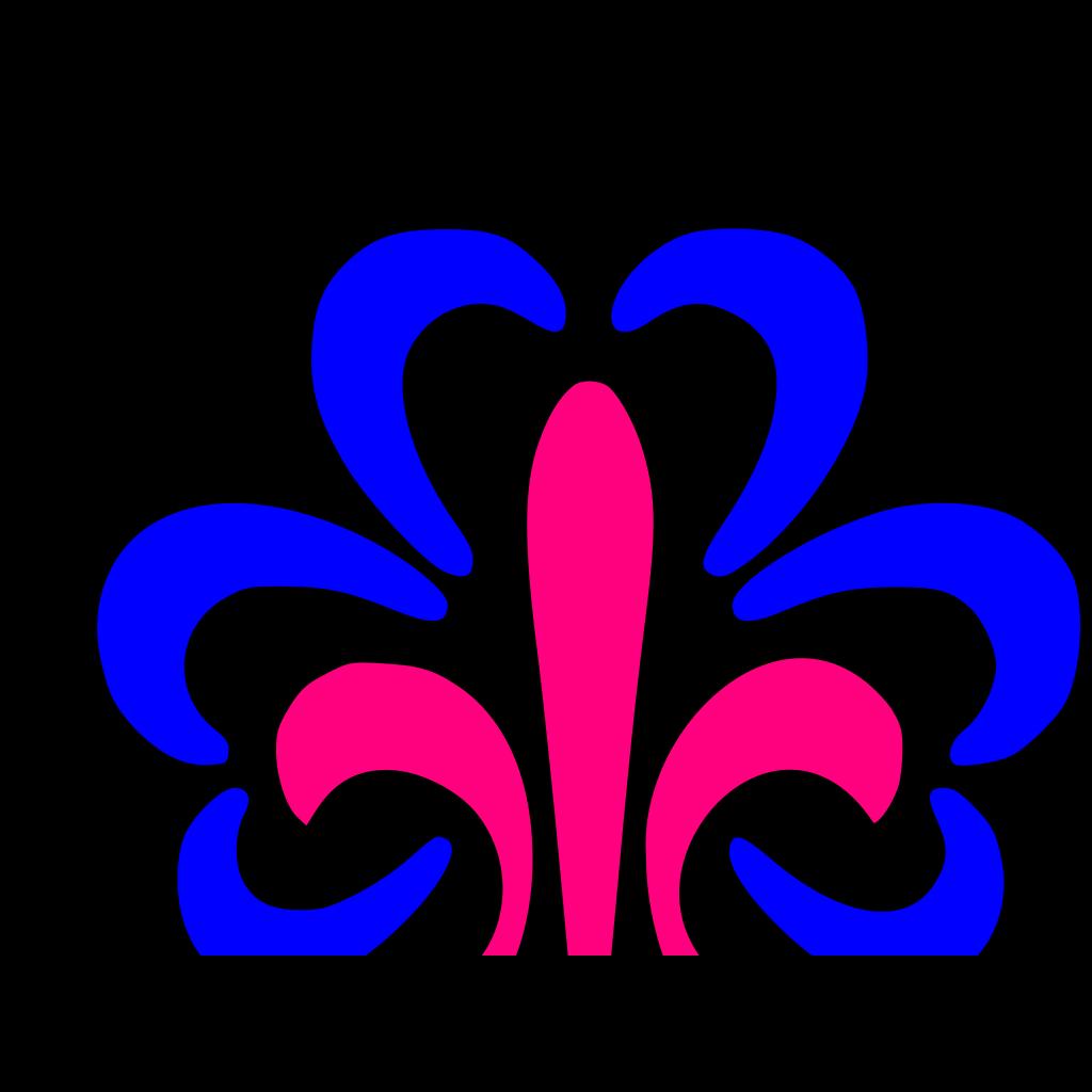 Pink Fleur SVG Clip arts