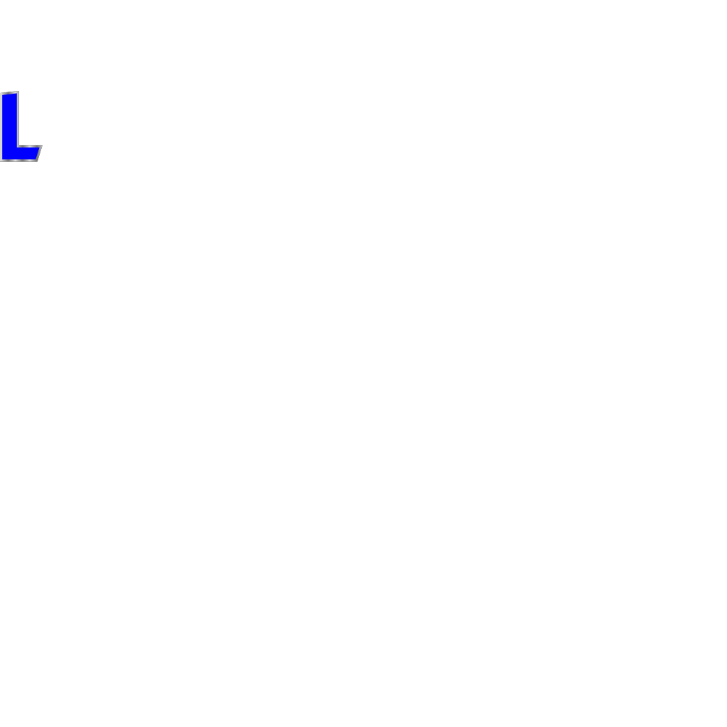 Blue L Clip Art SVG Clip arts