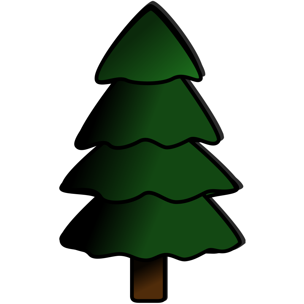 Pine Tree Grouping 2 SVG Clip arts