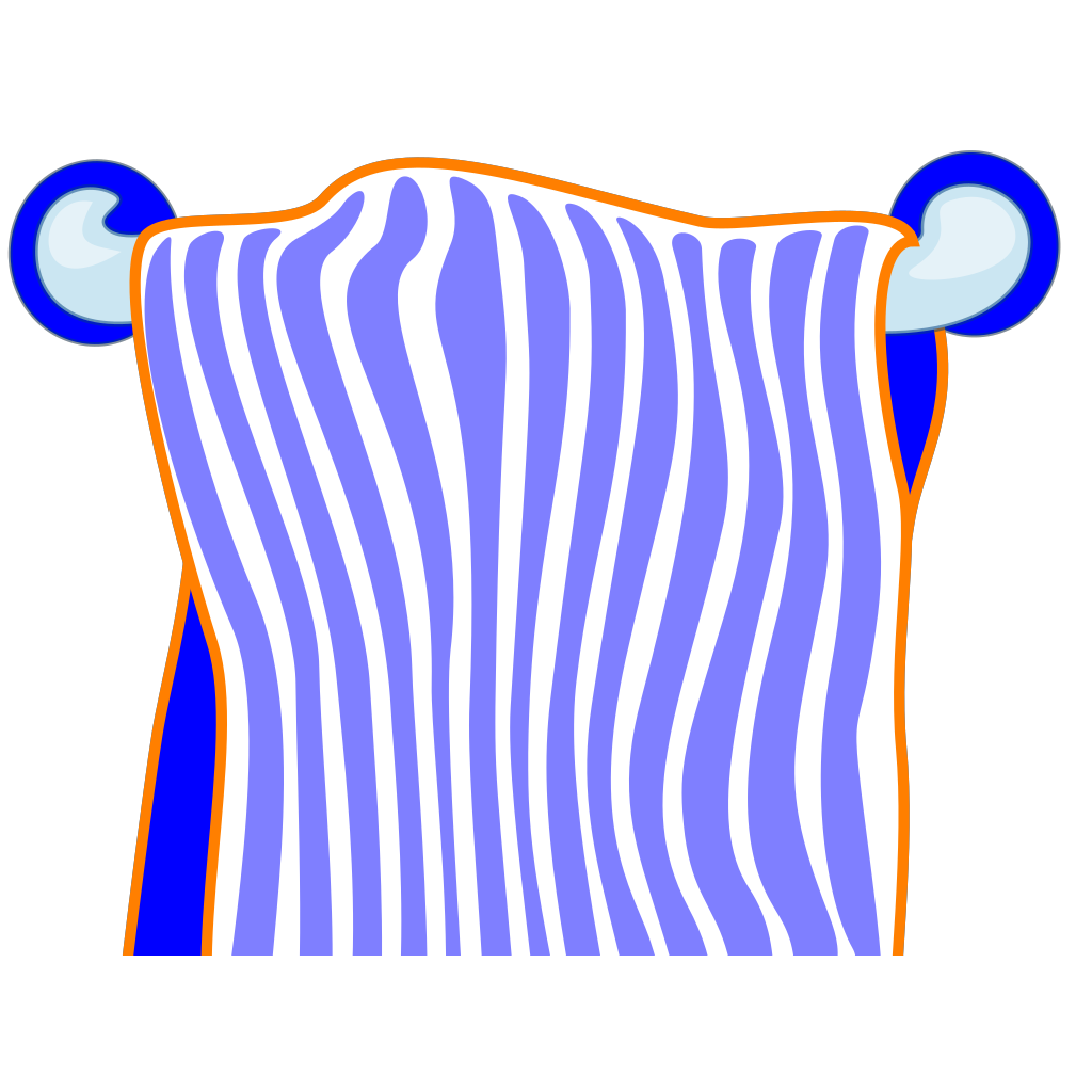 Bath Towel Blue SVG Clip arts