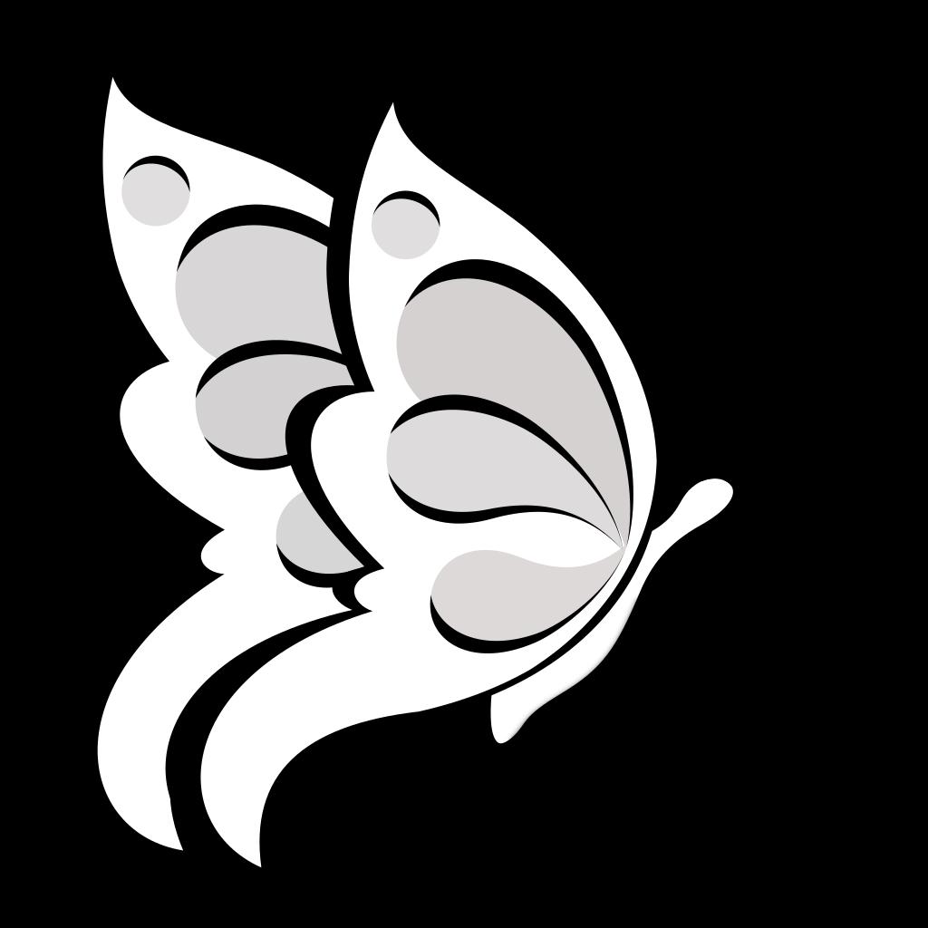 Blank Butterfly SVG Clip arts