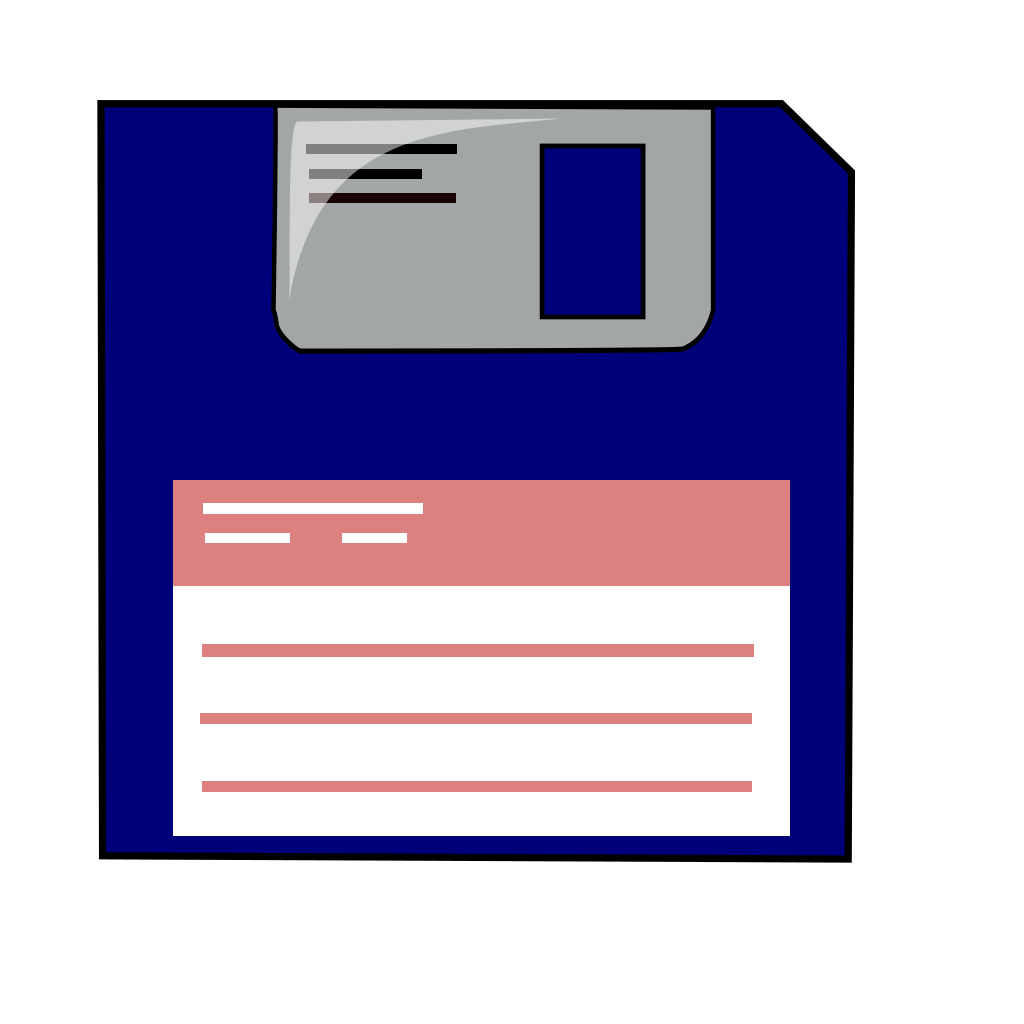 Blue Floppy SVG Clip arts