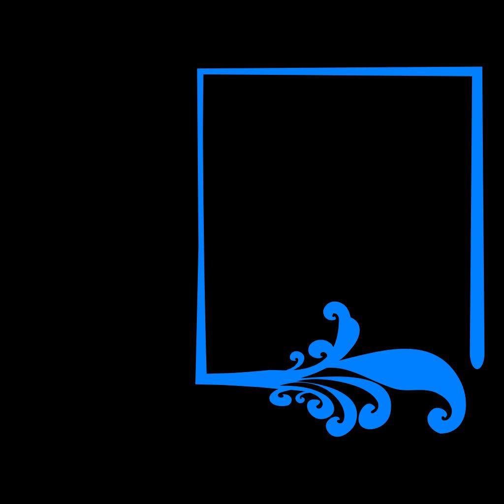 Blue Artistic Frame SVG Clip arts