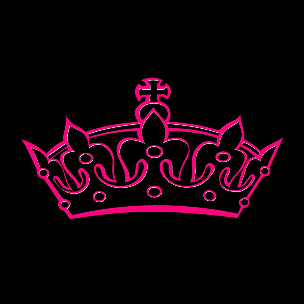 Pink Tilted Tiara SVG Clip arts