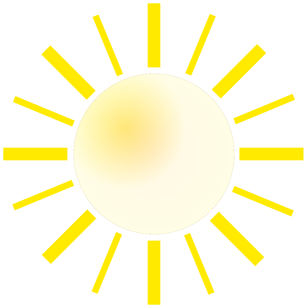 City With Sunshine SVG Clip arts