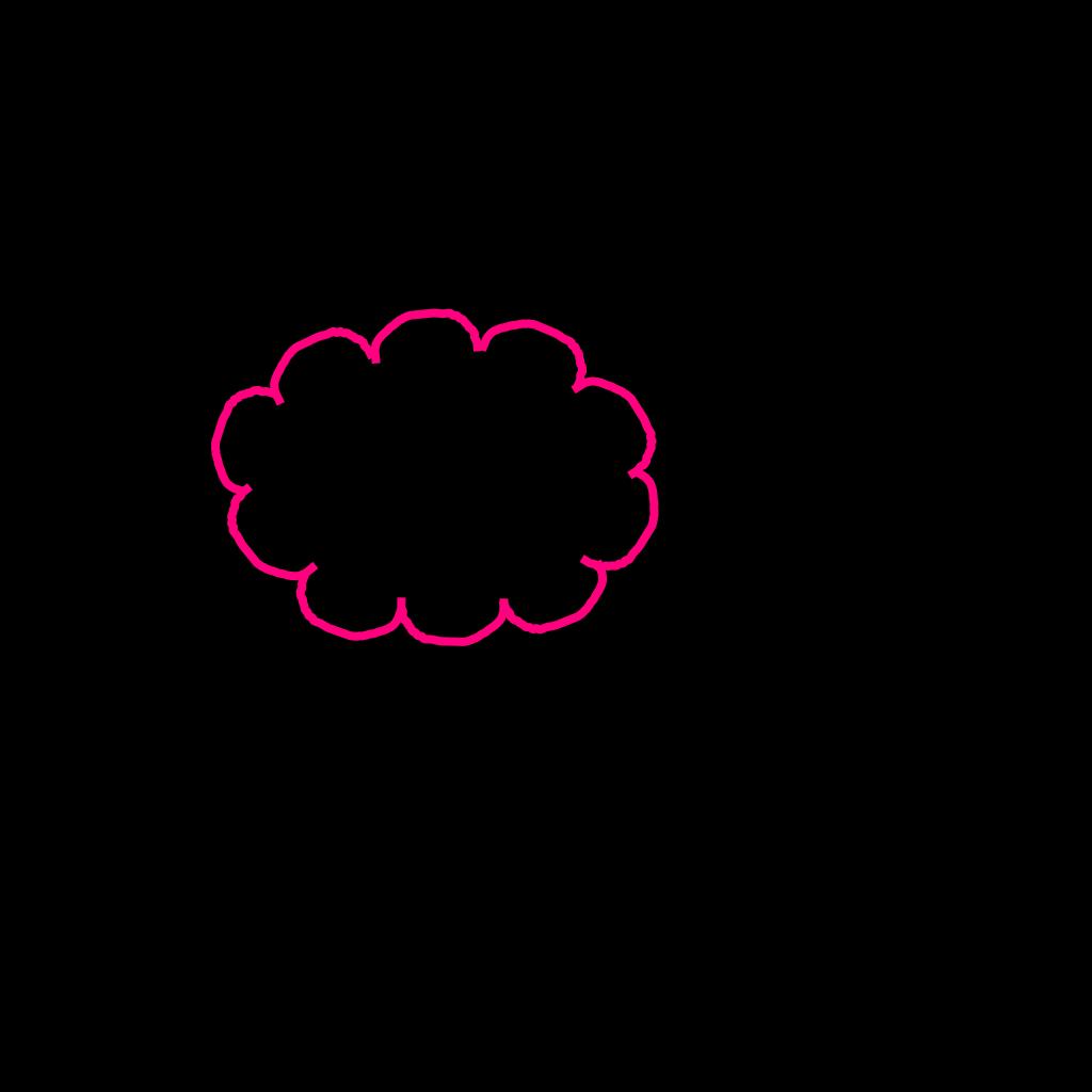 Blue Cloud Bubble SVG Clip arts
