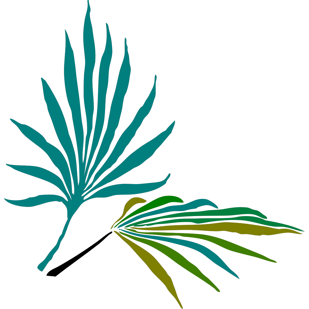Carolina Blue Palmetto Tree SVG Clip arts
