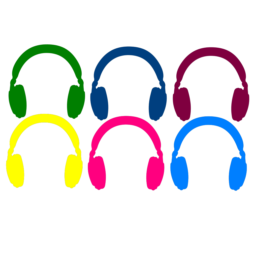 Computer Headphones SVG Clip arts