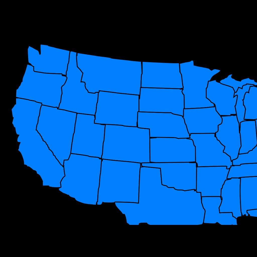 United States Blue SVG Clip arts