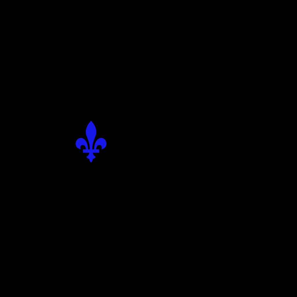 Dark Blue Fleur SVG Clip arts