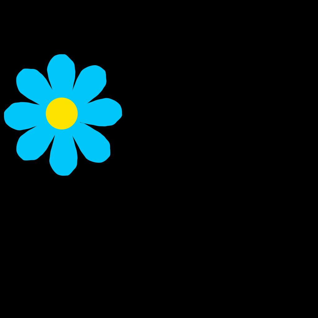 Bright Blue Flower SVG Clip arts