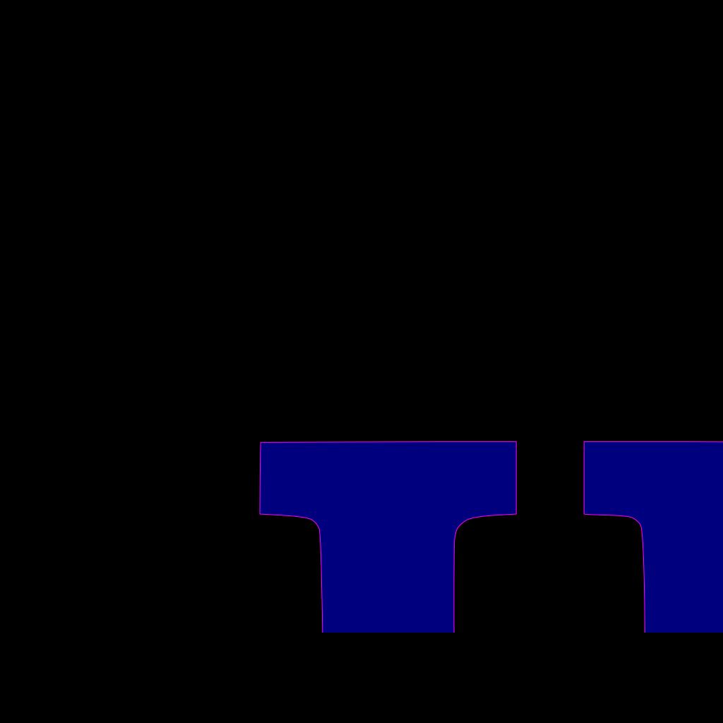 U Letter Blue SVG Clip arts