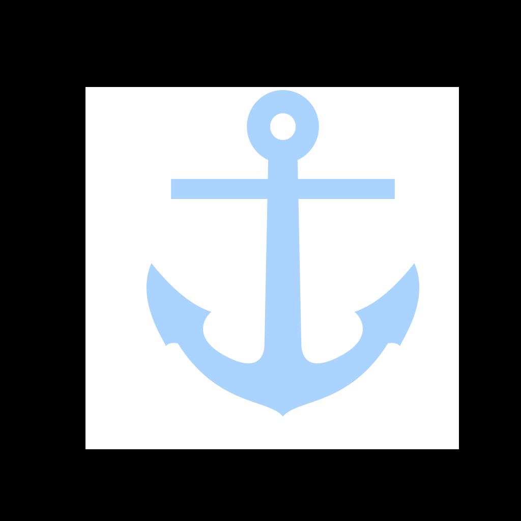 Light Blue Anchor SVG Clip arts
