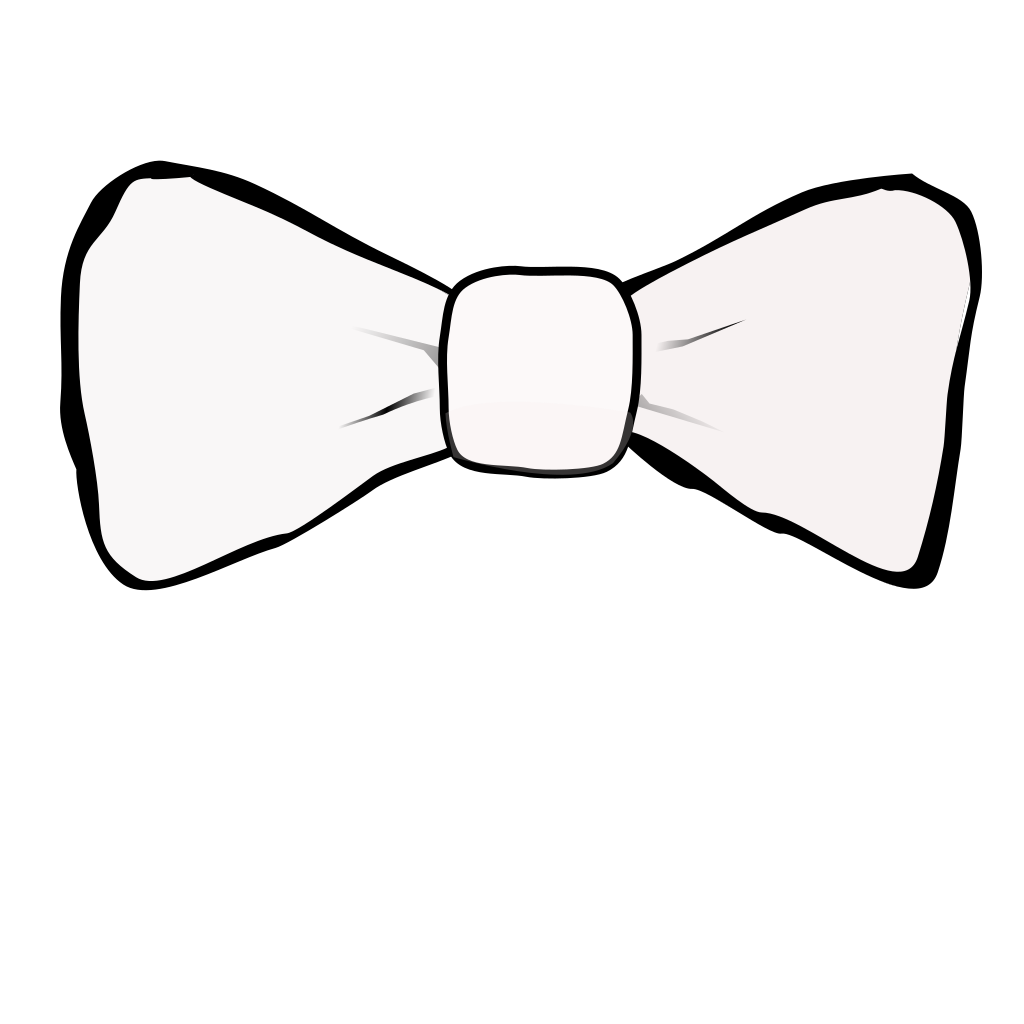 Bow Tie White SVG Clip arts