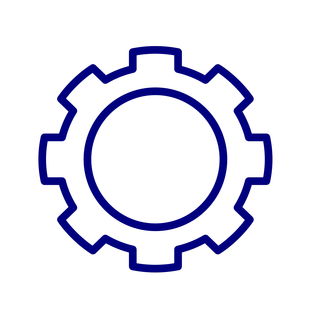 Blue Gear Cog SVG Clip arts