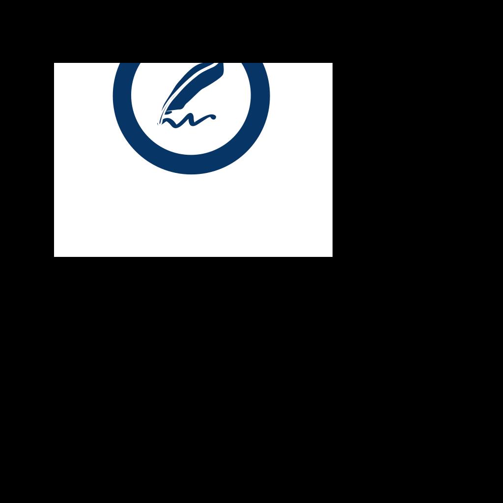 Blue Document Signature SVG Clip arts