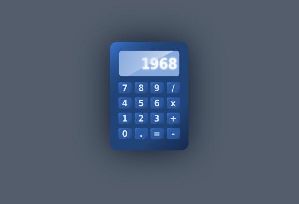 Blue Calculator SVG Clip arts
