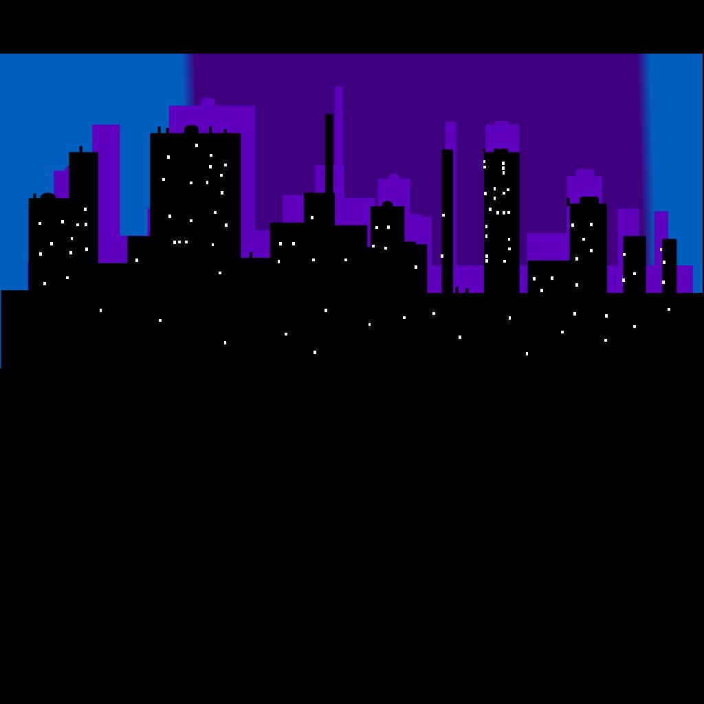 Blue Cityscape SVG Clip arts