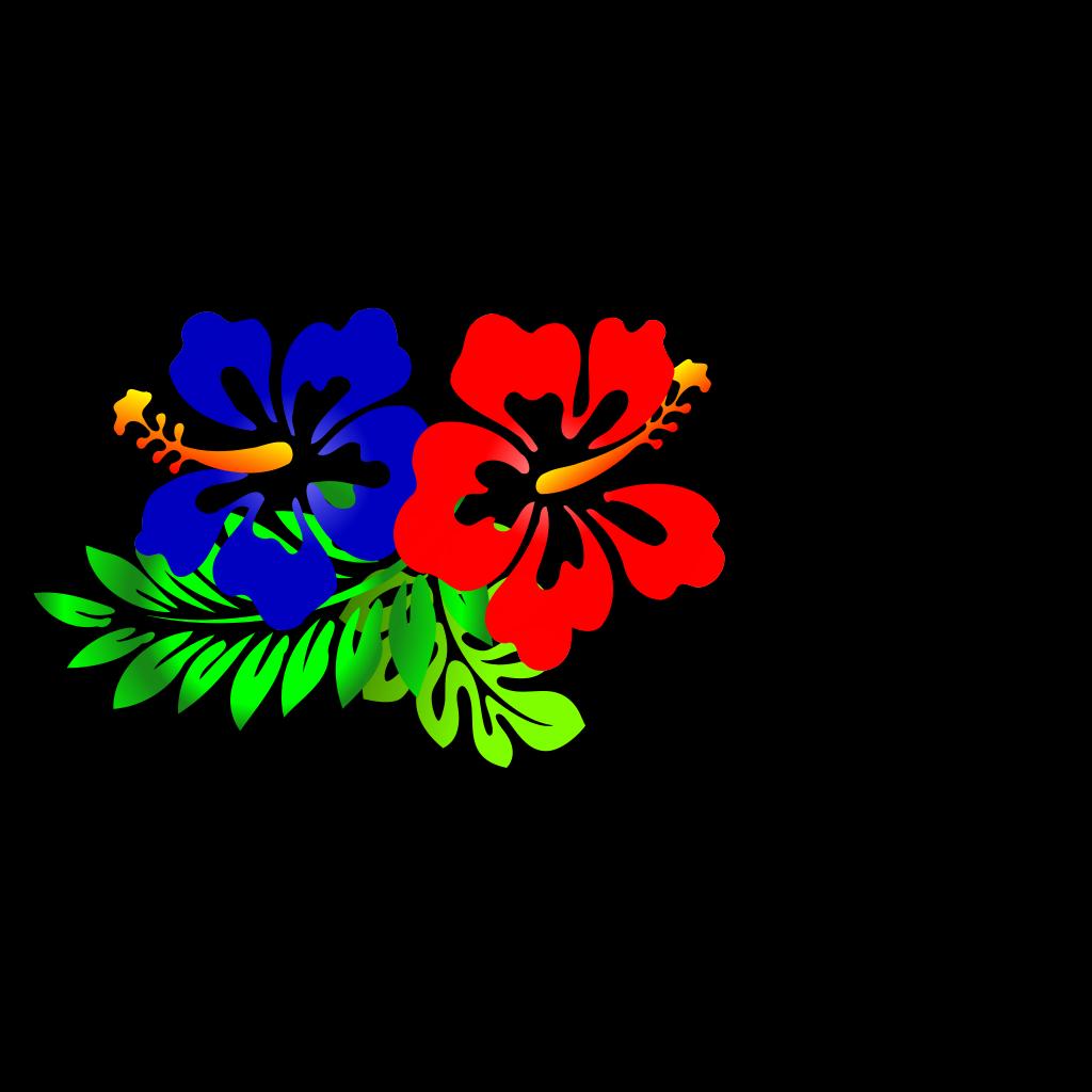 Blue Hibiscus SVG Clip arts