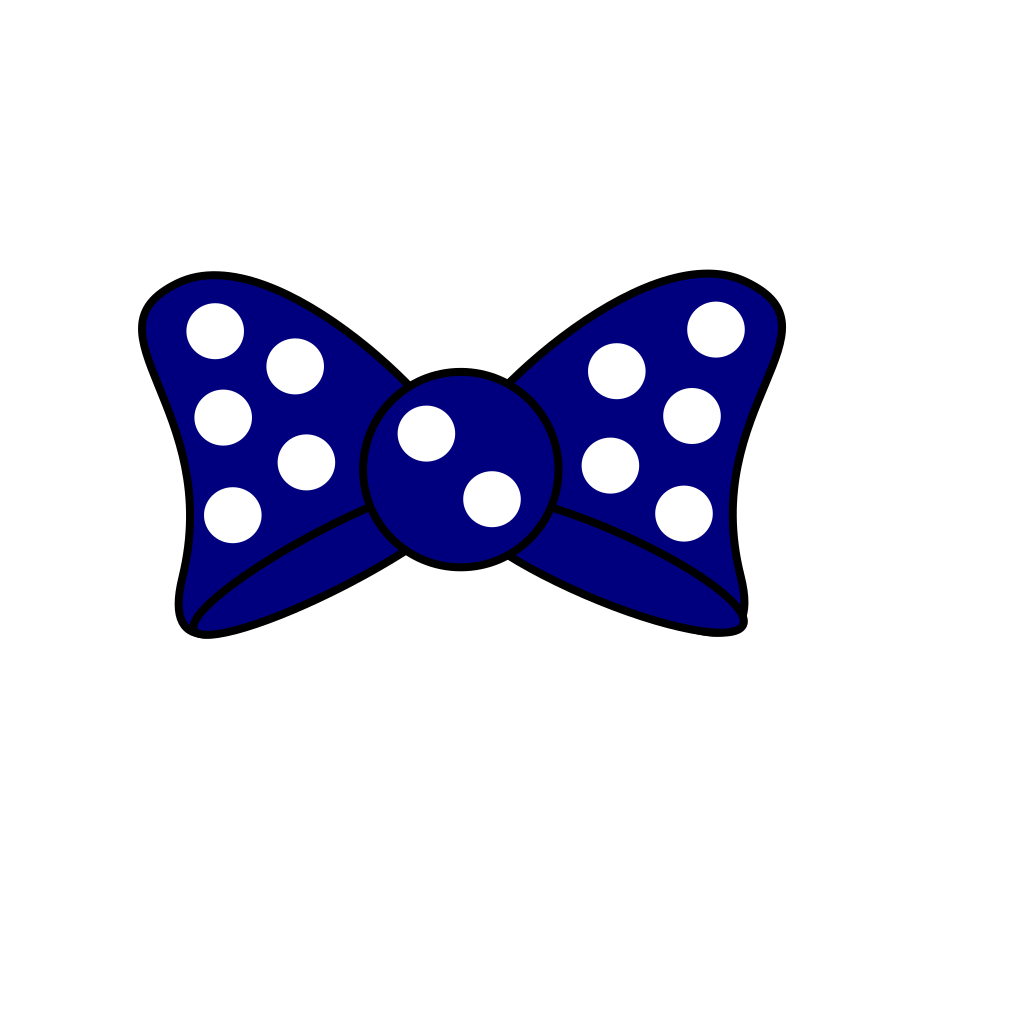 Minnie Blue  Bow SVG Clip arts